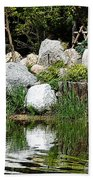 Tranquility In The Japanese Garden Beach Towel