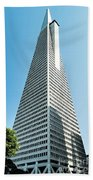 Transamerica Pyramid In San Francisco, California Beach Towel