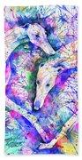 Transcendent Greyhounds Beach Towel