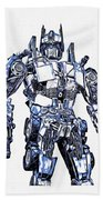 Transformers Optimus Prime Or Orion Pax Graphic  Beach Towel