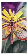 Transparent Butterfly Beach Towel