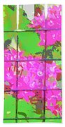 Trapped Flowers Beach Towel