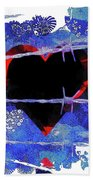 Trapped Heart Beach Towel