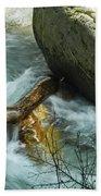 Trapped River Log Beach Towel