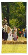 Travel In Time To Renaissance Beach Towel