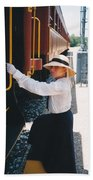 Traveling By Train Beach Sheet