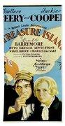 Treasure Island 1934 Beach Towel