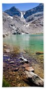 Treasure Lake 3 Rocky Shoreline Beach Towel