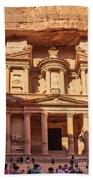 Treasury Of Petra In Color Beach Towel