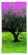 Tree And Color Beach Towel