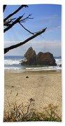 Tree And Ocean Beach Towel