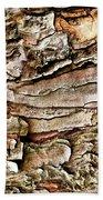 Tree Bark Abstract Beach Towel