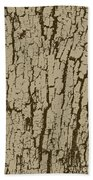 Tree Bark Texture Brown Beach Towel