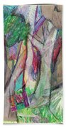 Tree Collage Beach Towel
