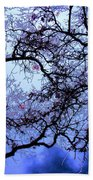 Tree Fantasy In Blue Beach Towel