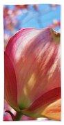 Tree Flowers Pink Dogwood Flowers 5 Dogwood Trees Art Blue Sky Baslee Troutman Beach Towel