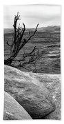 Tree In A Desert Beach Towel