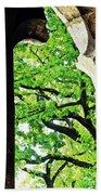 Tree In A Medieval Frame Beach Towel