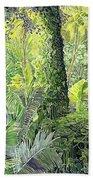 Tree In Garden Beach Towel