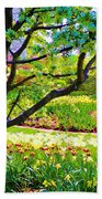 Tree In Spring Beach Towel