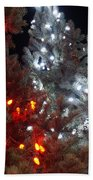 Tree Lights Beach Towel