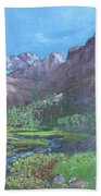 Tree Line Oasis  Beach Towel