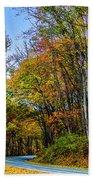 Tree Lined Road Beach Towel
