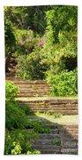 Tree Lined Steps Beach Towel