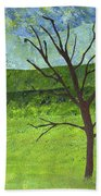 Tree No Leaves Beach Towel