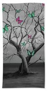 Tree Of Butterflies  Beach Towel