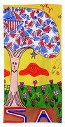 Tree Of Freedom And Glory Beach Towel