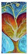 Tree Of Hearts Beach Towel
