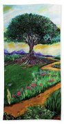 Tree Of Imagination Beach Towel