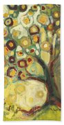 Tree Of Life In Autumn Beach Towel