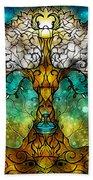 Tree Of Life Beach Towel by Mandie Manzano
