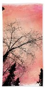 Tree Silhouettes I Beach Towel