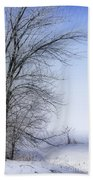 Tree-snow-fog Beach Towel