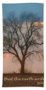 Tree - Sunset - Quotation Beach Towel