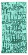 Tree Texture Turquoise Beach Towel