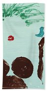 Tree With Blue Birds Beach Towel