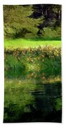 Tree With Lily Reflections Beach Towel