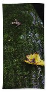 Tree With Yellow Leaf Beach Towel