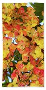 Trees And Flowers In Hawaii Beach Sheet