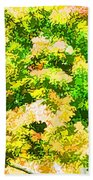 Trees And Leaves 1 Beach Towel