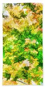 Trees And Leaves  Beach Towel
