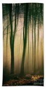 Trees At Dawn Beach Towel