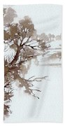 Trees By A River Beach Towel