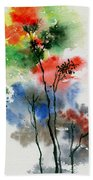 Trees In Colors Beach Towel