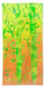 Trees In The Grass Beach Towel