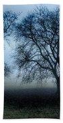 Trees In The Mist Beach Towel